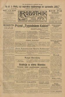 Robotnik : centralny organ P.P.S. R.38, nr 187 (3 czerwca 1932) = nr 4980
