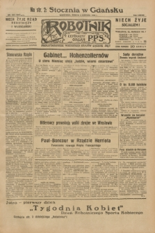 Robotnik : centralny organ P.P.S. R.38, nr 188 (4 czerwca 1932) = nr 4981