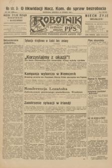 Robotnik : centralny organ P.P.S. R.38, nr 205 (19 czerwca 1932) = nr 4998