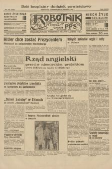 Robotnik : centralny organ P.P.S. R.38, nr 322 (19 września 1932) = nr 5025