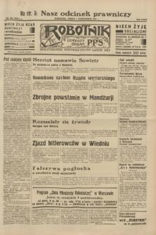 Robotnik : centralny organ P.P.S. R.38, nr 336 (1 października 1932) = nr 5039