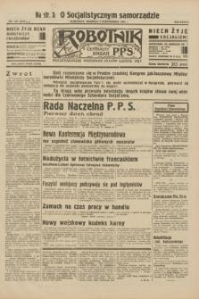 Robotnik : centralny organ P.P.S. R.38, nr 345 (9 października 1932) = nr 5048