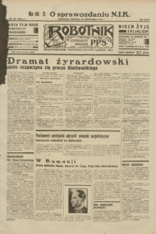Robotnik : centralny organ P.P.S. R.38, nr 361 (23 października 1932) = nr 5064 (skonfiskowany)