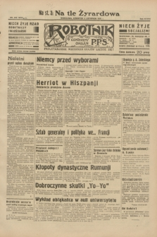 Robotnik : centralny organ P.P.S. R.38, nr 376 (3 listopada 1932) = nr 5079