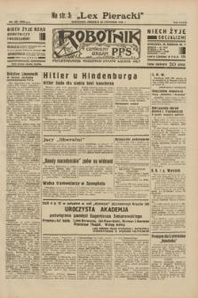Robotnik : centralny organ P.P.S. R.38, nr 395 (20 listopada 1932) = nr 5098