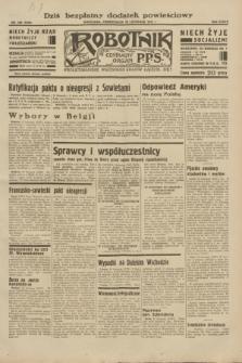 Robotnik : centralny organ P.P.S. R.38, nr 406 (28 listopada 1932) = nr 5109