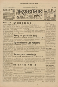 Robotnik : centralny organ P.P.S. R.38, nr 408 (29 listopada 1932) = nr 5111 (po konfiskacie nakład drugi)