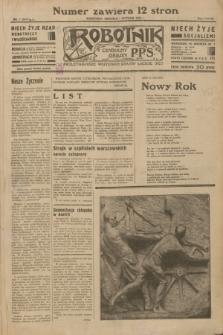 Robotnik : centralny organ P.P.S. R.38 [i.e.39], nr 1 (1 stycznia 1933) = nr 5147