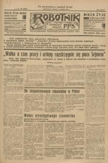 Robotnik : centralny organ P.P.S. R.38 [i.e.39], nr 100 (18 marca 1933) = nr 5245 (po konfiskacie nakład drugi)