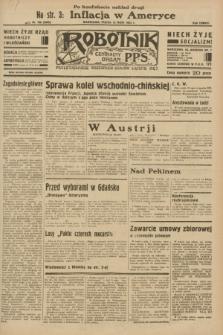 Robotnik : centralny organ P.P.S. R.38 [i.e.39], nr 160 (12 maja 1933) = nr 5305 (po konfiskacie nakład drugi)