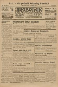 Robotnik : centralny organ P.P.S. R.38 [i.e.39], nr 209 (20 czerwca 1933) = nr 5354