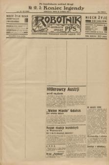 Robotnik : centralny organ P.P.S. R.38 [i.e.39], nr 222 (28 czerwca 1933) = nr 5365 (po konfiskacie nakład drugi)