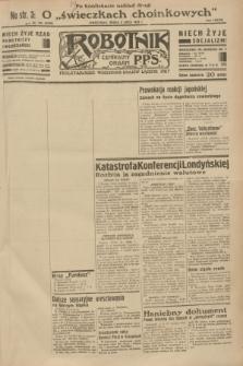 Robotnik : centralny organ P.P.S. R.38 [i.e.39], nr 234 (5 lipca 1933) = nr 5378 (po konfiskacie nakład drugi)