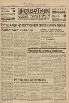 Robotnik : centralny organ P.P.S. R.37 [i.e.39], nr 362 (5 października 1933) = nr 5506