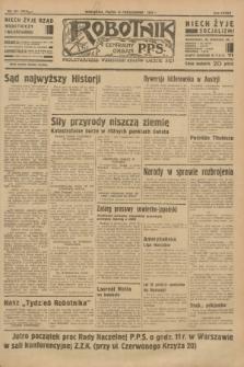 Robotnik : centralny organ P.P.S. R.37 [i.e.39], nr 374 (13 października 1933) = nr 5519