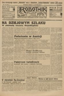 Robotnik : centralny organ P.P.S. R.37 [i.e.39], nr 416 (12 listopada 1933) = nr 5561