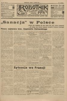 Robotnik : centralny organ P.P.S. R.38 [i.e.40], nr 50 (7 lutego 1934) = nr 5672
