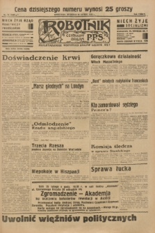 Robotnik : centralny organ P.P.S. R.38 [i.e.40], nr 79 (25 lutego 1934) = nr 5699