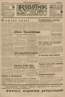 Robotnik : centralny organ P.P.S. R.38 [i.e.40], nr 96 (8 marca 1934) = nr 5717