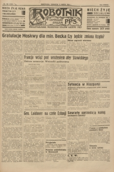 Robotnik : centralny organ P.P.S. R.38 [i.e.40], nr 104 (15 marca 1934) = nr 5726