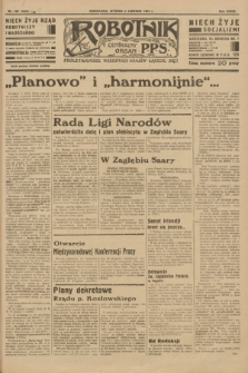 Robotnik : centralny organ P.P.S. R.39 [i.e.40], nr 199 (5 czerwca 1934) = nr 5820