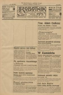 Robotnik : centralny organ P.P.S. R.39 [i.e.40], nr 229 (24 czerwca 1934) = nr 5849 (po konfiskacie nakład drugi)