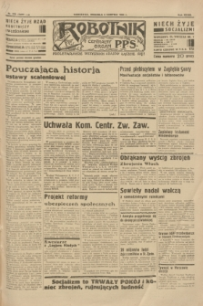 Robotnik : centralny organ P.P.S. R.39 [i.e.40], nr 279 (5 sierpnia 1934) = nr 5899