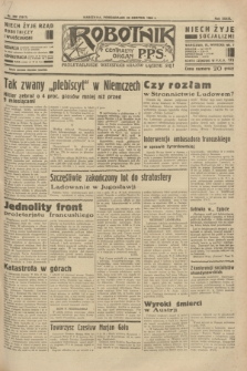 Robotnik : centralny organ P.P.S. R. 39 [i.e.40], nr 298 (20 sierpnia 1934) = nr 5917