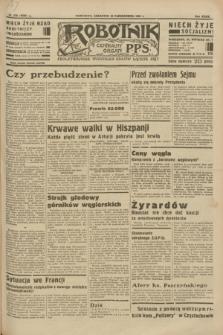 Robotnik : centralny organ P.P.S. R.39 [i.e.40], nr 373 (18 października 1934) = nr 5992