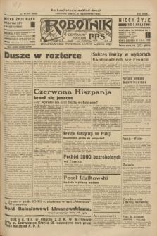 Robotnik : centralny organ P.P.S. R.39 [i.e.40], nr 377 (20 października 1934) = nr 5996 (po konfiskacie nakład drugi)