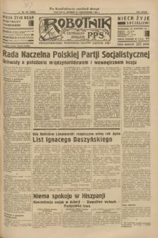Robotnik : centralny organ P.P.S. R.39 [i.e.40], nr 381 (23 października 1934) = nr 6000 (po konfiskacie nakład drugi)