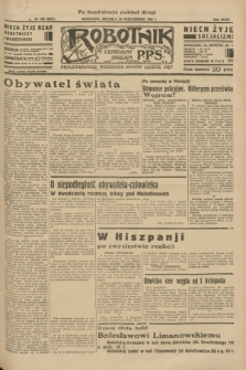 Robotnik : centralny organ P.P.S. R.39 [i.e.40], nr 389 (28 października 1934) = nr 6007 (po konfiskacie nakład drugi)