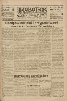 Robotnik : centralny organ P.P.S. R.39 [i.e.40], nr 400 (8 listopada 1934) = nr 6018