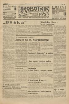 Robotnik : centralny organ P.P.S. R.40 [i.e.41], nr 8 (8 stycznia 1935) = nr 6087 (skonfiskowany)