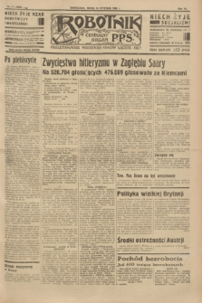 Robotnik : centralny organ P.P.S. R.40 [i.e.41], nr 17 (16 stycznia 1935) = nr 6096