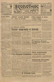Robotnik : centralny organ P.P.S. R.40 [i.e.41], nr 20 (18 stycznia 1935) = nr 6097 (skonfiskowany)