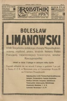 Robotnik : centralny organ P.P.S. R.40 [i.e.41], nr 39 (2 lutego 1935) = nr 6114