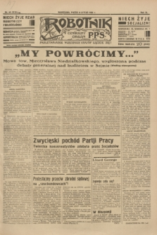 Robotnik : centralny organ P.P.S. R.40 [i.e.41], nr 44 (8 lutego 1935) = nr 6119