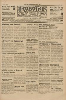 Robotnik : centralny organ P.P.S. R.40 [i.e.41], nr 139 (6 maja 1935) = nr 6214