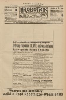 Robotnik : centralny organ P.P.S. R.40 [i.e.41], nr 208 (11 lipca 1935) = nr 6282 (po konfiskacie nakład drugi)