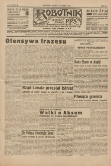 Robotnik : centralny organ P.P.S. R.41 [i.e.42], nr 23 (21 stycznia 1936) = nr 6509