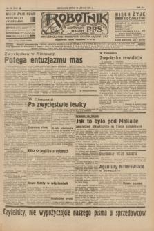 Robotnik : centralny organ P.P.S. R.41 [i.e.42], nr 56 (19 lutego 1936) = nr 6541