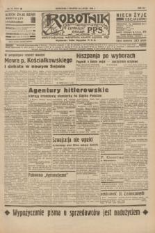 Robotnik : centralny organ P.P.S. R.41 [i.e.42], nr 57 (20 lutego 1936) = nr 6542