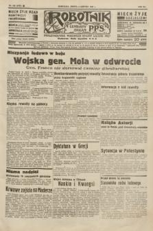 Robotnik : centralny organ P.P.S. R.41 [i.e.42], nr 249 (8 sierpnia 1936) = nr 6733