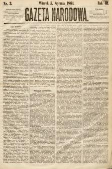 Gazeta Narodowa. 1864, nr3