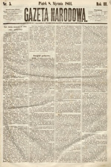 Gazeta Narodowa. 1864, nr5