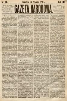 Gazeta Narodowa. 1864, nr10