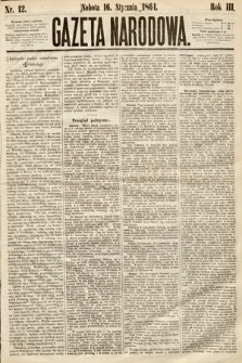 Gazeta Narodowa. 1864, nr12