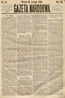Gazeta Narodowa. 1864, nr14