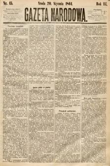 Gazeta Narodowa. 1864, nr15